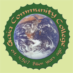 The Gaia Community College logo